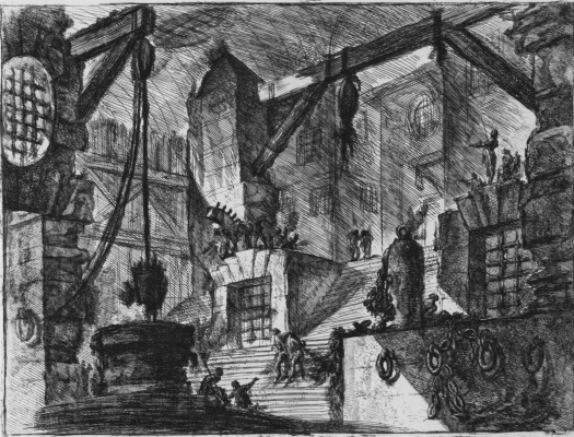 Giovanni Battista Piranesi. A series of Prisons, sheet XIII, the first state