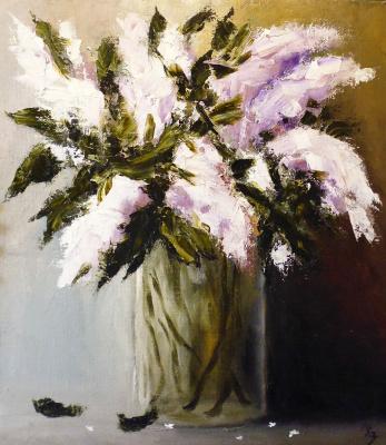 Сергей Николаевич Ходоренко-Затонский. Lilacs in a glass vase