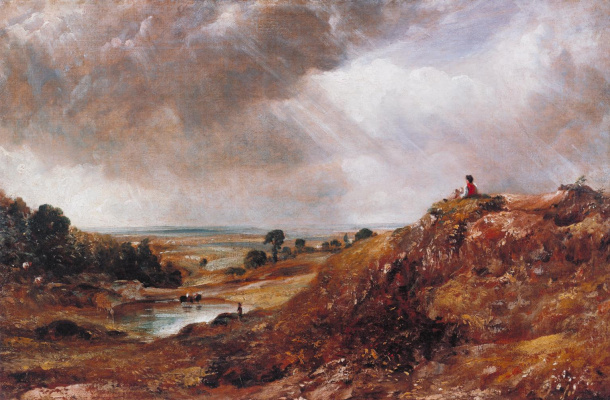 John Constable. Pond hill, Hampstead and the boy on the hill