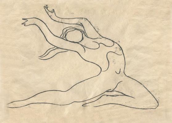 Alexandrovich Rudolf Pavlov. A sketch of a dancer.