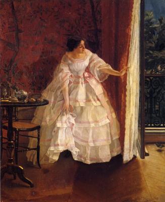 Alfred Emil-Leopold Stevens. Lady in white