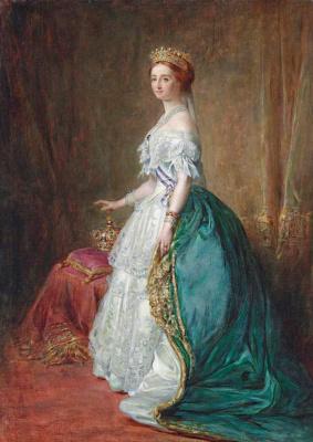 Franz Xaver Winterhalter. Portrait of Empress Eugenie, wife of Napoleon III
