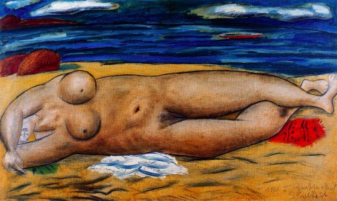 Риккардо Швейцер. Женщина на пляже