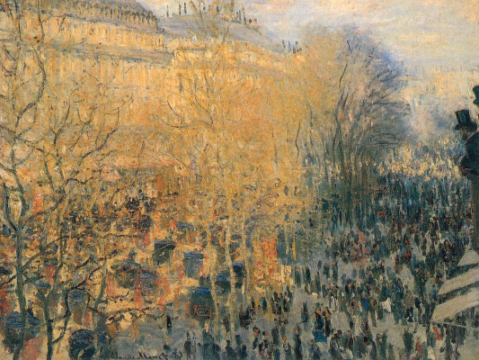 Claude Monet. Boulevard des Capucines in Paris