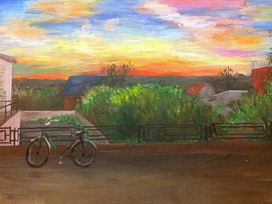 Ekaterina Vasilievna Solonar. Sunset over Maloyaroslavets
