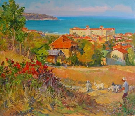 Александр Алексеевич Дубровский. Nessebar Painting by Oleksandr Dubrovskyy