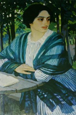 Зинаида Евгеньевна Серебрякова. Портрет Н. Г. Чулковой
