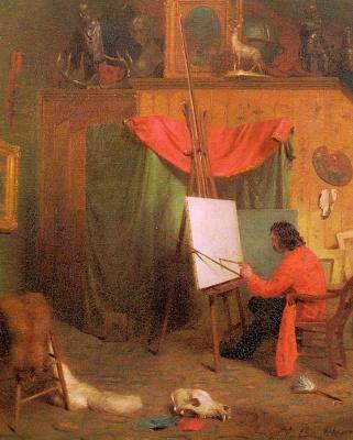 William Holbrook Byrd. Self portrait in the Studio
