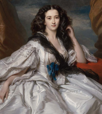 Franz Xaver Winterhalter. Wenceslaus, Barshevsky, Madame de Yu. Fragment