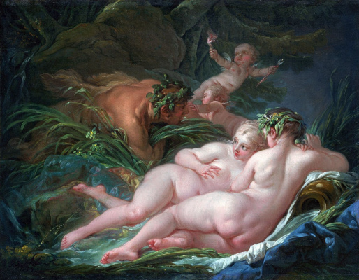 Francois Boucher. Pan and Syrinx