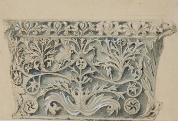 John Ruskin. Pattern of leaves on a Byzantine column