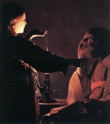 Georges de La Tour. The dream of St. Joseph