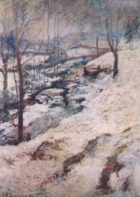 John Henry Twachtman. Frozen Creek