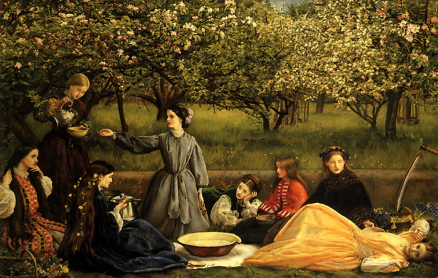 John Everett Millais. Blooming Apple trees (Spring)