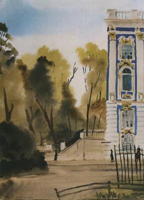 Александр Семенович Ведерников. В Пушкине. Парк