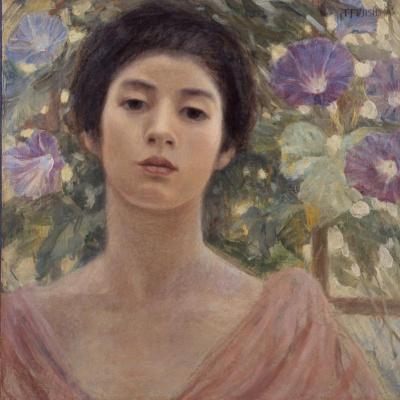 Фудзисима Такедзи. Девушка с ипомеями