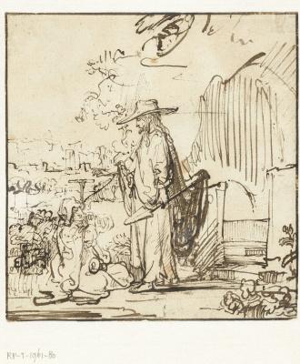 Рембрандт Харменс ван Рейн. Явление Христа Марии Магдалине в саду (Noli me tangere)