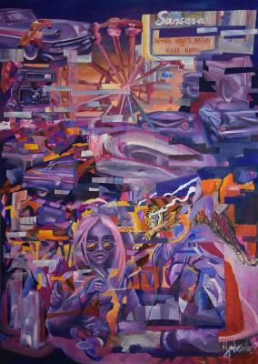 Evgeny Urbanovich. Midsummer night's sleep in pink neon