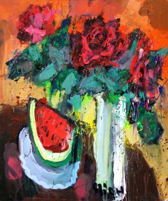 Ilya Pavlovich Spichenkov. Three dark roses