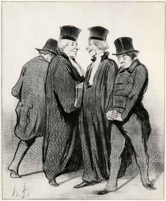 Honore Daumier. After losing the first two instances, we are now in the Imperial court.