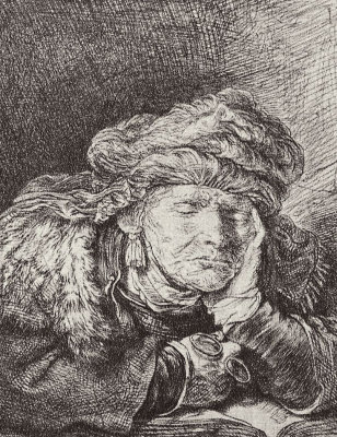 Рембрандт Харменс ван Рейн. Спящая старуха