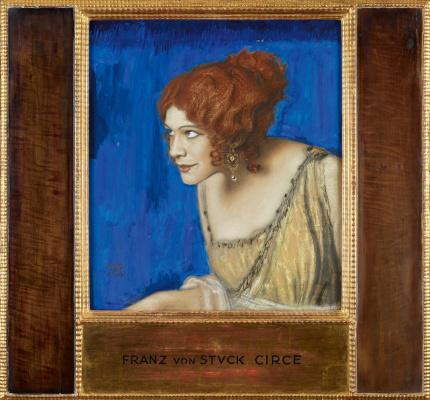 Franz von Stuck. Tilla duryea in the image of CIRCE. 1913 mixed media