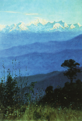 Vasily Vereshchagin. The Himalayas in the evening. Etude