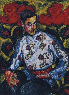 Ilya Ivanovich Mashkov. The boy in the painted shirt