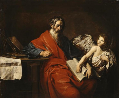 Valentin de Boulogne. The Apostle Matthew