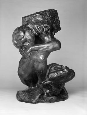 Auguste Rodin. Fallen Caryatid carrying its stone