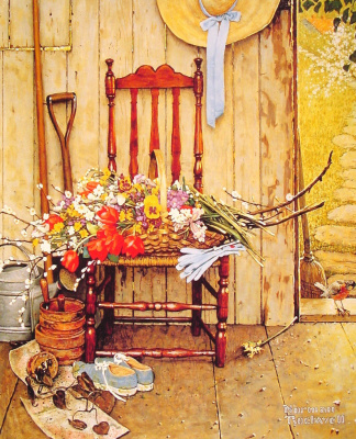 Norman Rockwell. Spring flowers