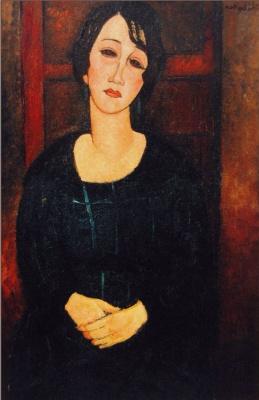 Амедео Модильяни. Портрет женщины в шотландском платье