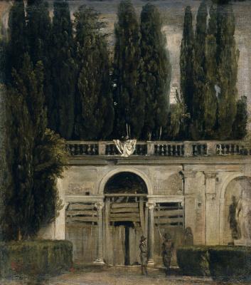 Диего Веласкес. Вилла Медичи в Риме. Конец дня
