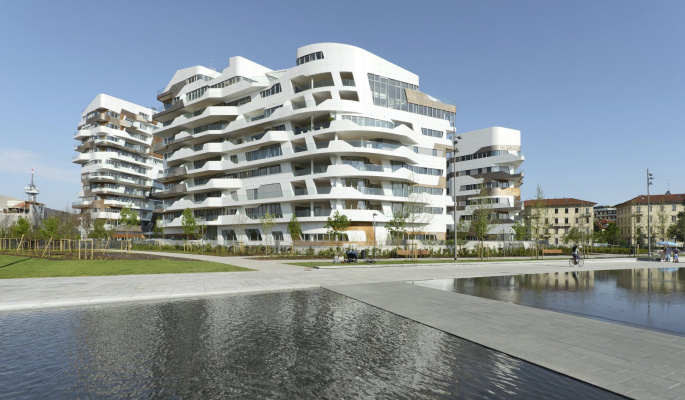 Zaha Hadid. Residential complex CityLife