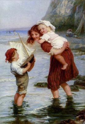 Фредерик Морган. Дети играют на воде