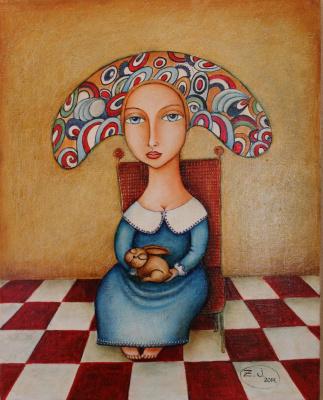 Жанна Зутлевицс. Дама с кроликом