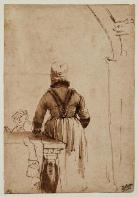 Рембрандт Харменс ван Рейн. Женщина в северноголландском наряде (Гертье Диркс?)