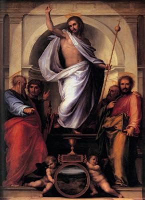 Фра Бартоломео. Christ with the Four Evangelists
