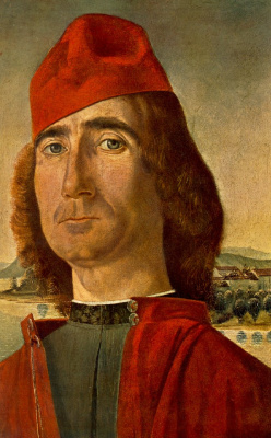 Vittore Carpaccio. Portrait of an unknown man in a red beret