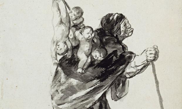 Франсиско Гойя. Сон доброй ведьмы (фрагмент)