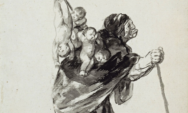 Francisco Goya. Sleep good witches (fragment)