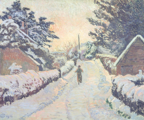 Lucien Pissarro. Sun and snow