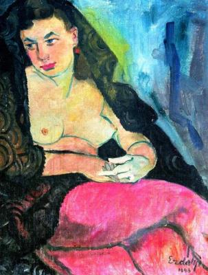 Adalbert Mikhailovich Erdeli. Portrait of the artist's wife