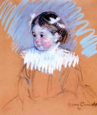 Mary Cassatt. Ellen with bows in her hair