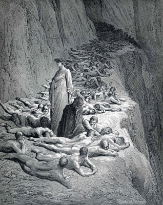 """Paul Gustave Dore. Illustration for the """"Divine Comedy"""""""