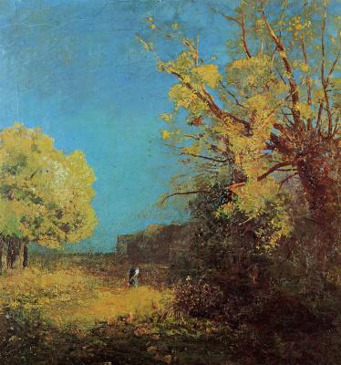 Odilon Redon. Peyrelevade landscape