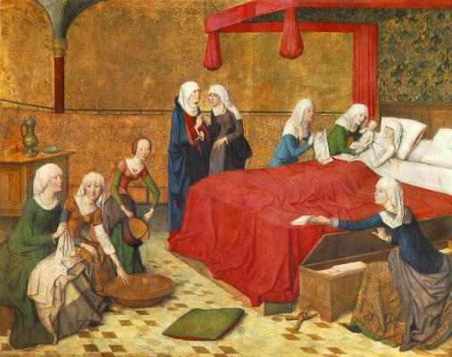 Мейстер Дес Мариенлебенс. Рождение Марии, старая пинакотека