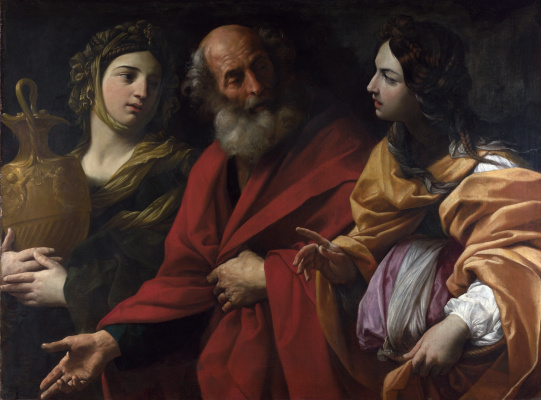 Guido Reni. Lot and his daughters leaving Sodom
