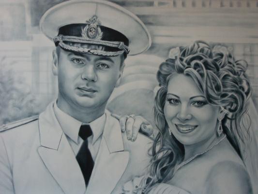 Хельга Эдуардовна Григорьева. Dry brush,oil,AC.paper.