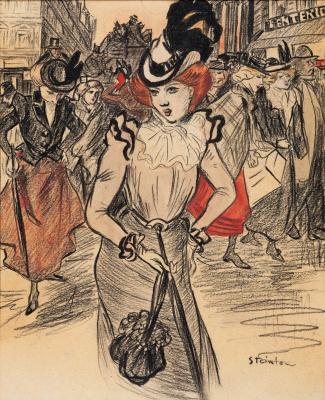 Theophile-Alexander Steinlen. Paris fashionista